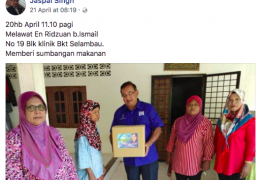 For repeated bribing and treating of voters in Bukit Selambau, Kedah. In house to house visits, he gave out food, essentials and money to voters.